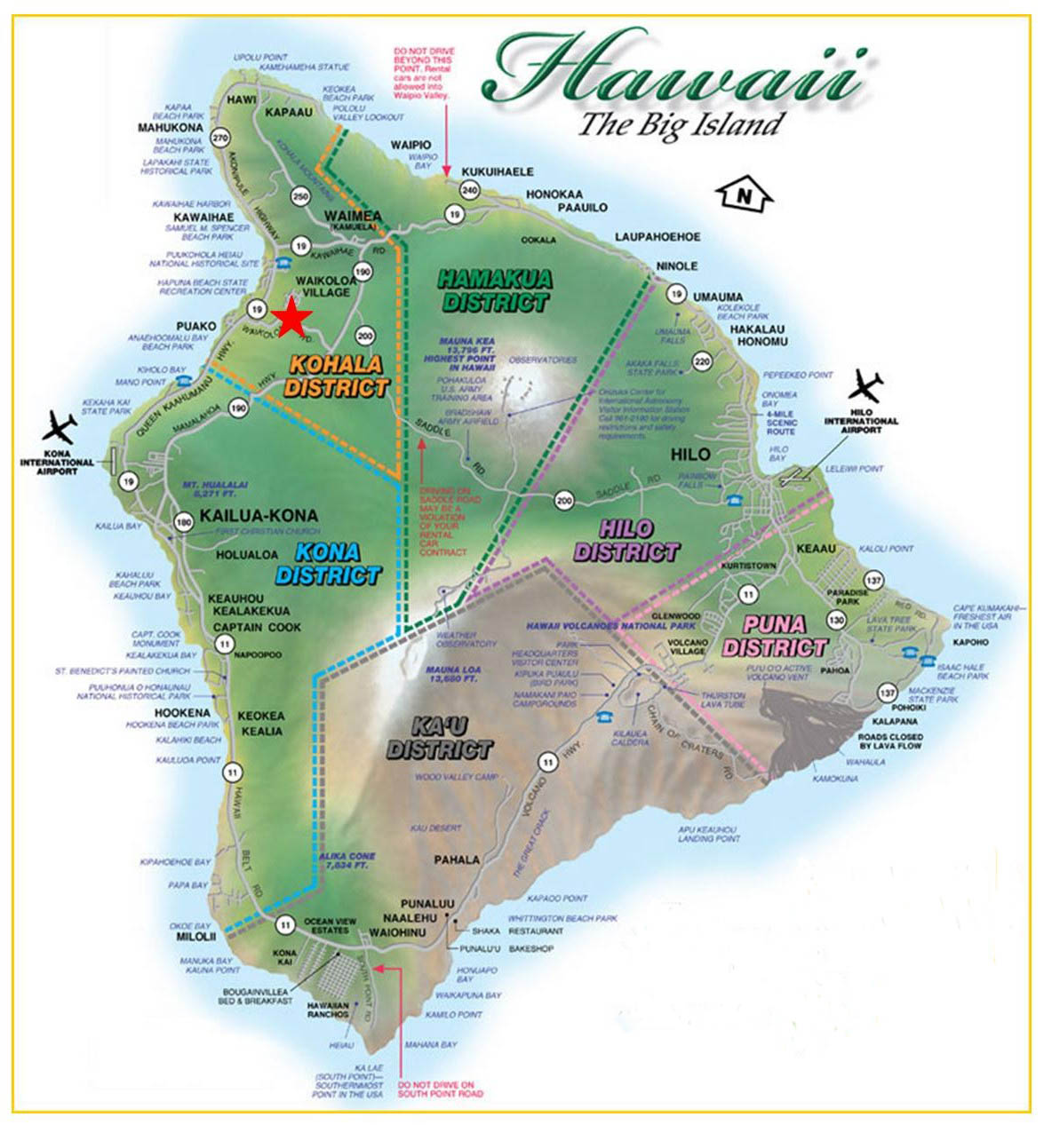 Pics Photos  Hawaii Big Island Maps And Orientation Usa